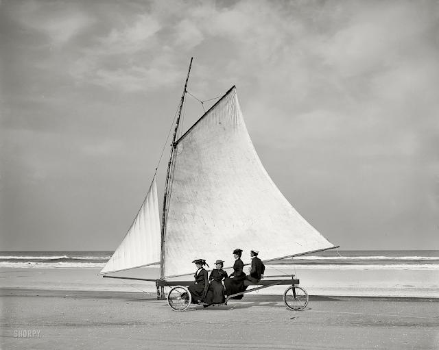 beach sailing c1900