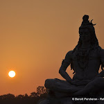 Lord Shiva on the banks of the Ganga river, Rishikesh