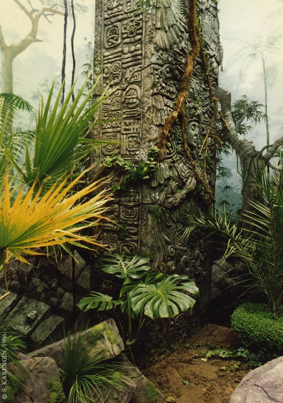 Тукан, ландшафтный дизайн, дизайн,  развалины Майя, mayan ruins, московский зоопарк, искусственный ландшафт,