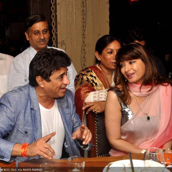 Anand Raj Anand and Sunanda Tharoor during Vani Tripathi's birthday bash, held in Delhi.