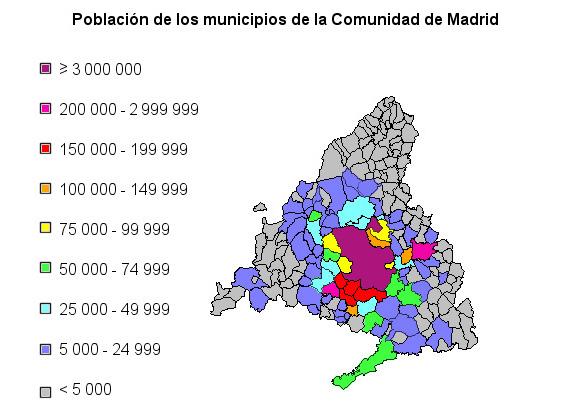 Municipios de Madrid por población