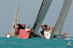 J/111 sailing upwind
