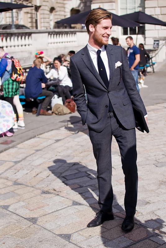 Dan Kennedy at London Fashion Week