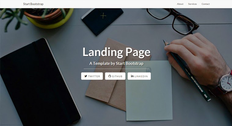 Free Bootstrap Themes Landing Page Templates