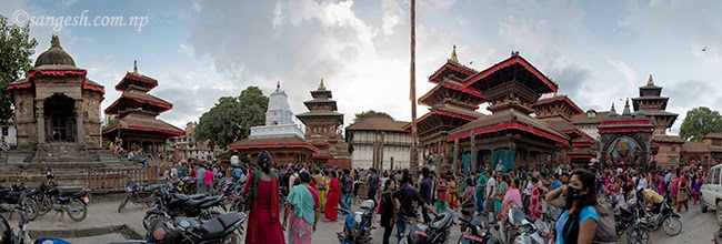 Another angle of Taleju, Kal Bhairav and Swet Bhairav
