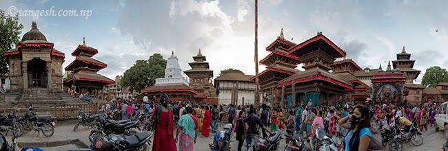 Another angle of Taleju, Kal Bhairav and Swet Bhairav