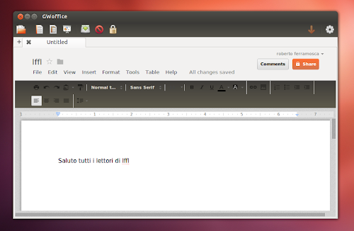 GWoffice su Ubuntu 12.04 - nuovo documento