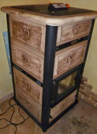 Trasformazione stufa a legna in termostufa fai da te offgrid - Stufa a legna termosifoni ...