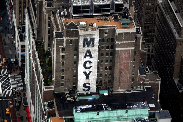 Macy's in New York City as seen from the top of the Empire State Building