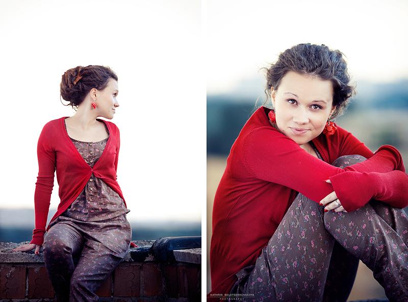 Портфолио. Портрет. Девушка на крыше. Портретная фотосессия. Фотограф Катрин Белоцерковская.
