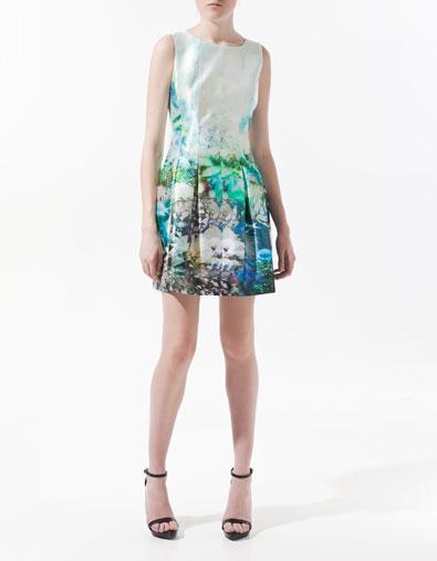 Fish printed dress