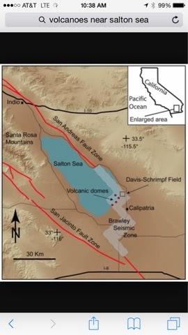 Earthquake Fault Line near Salton Sea