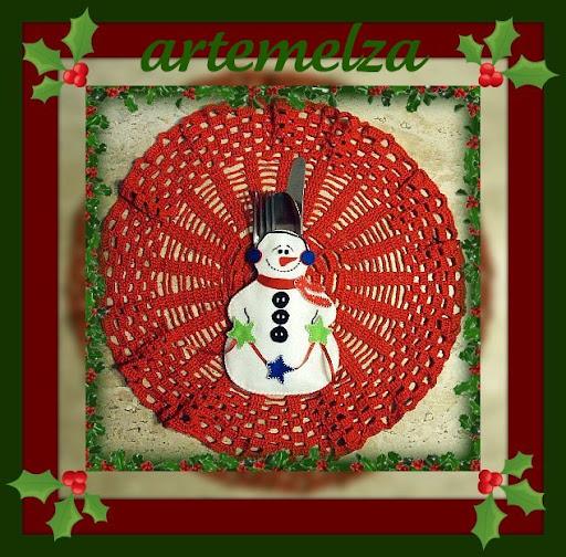 artemelza - porta talher boneco de neve