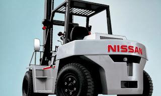 xe nang diesel nissan 7-8 tan