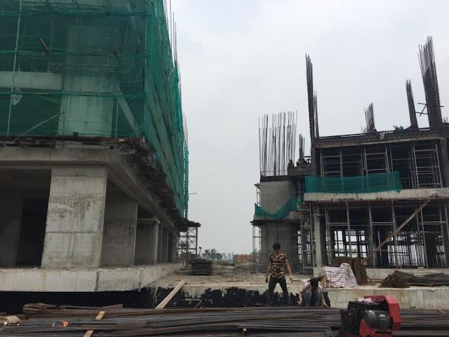 Tiến độ xây dựng chung cư B1.3 Thanh Hà cienco 5