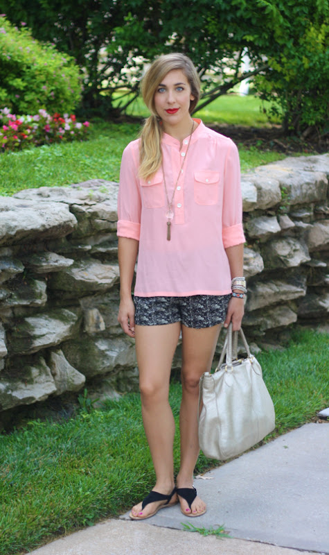 outfit post: repeat peach