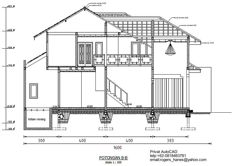 desain rumah cad terbaru