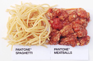 pantone spaghetti and meatballs