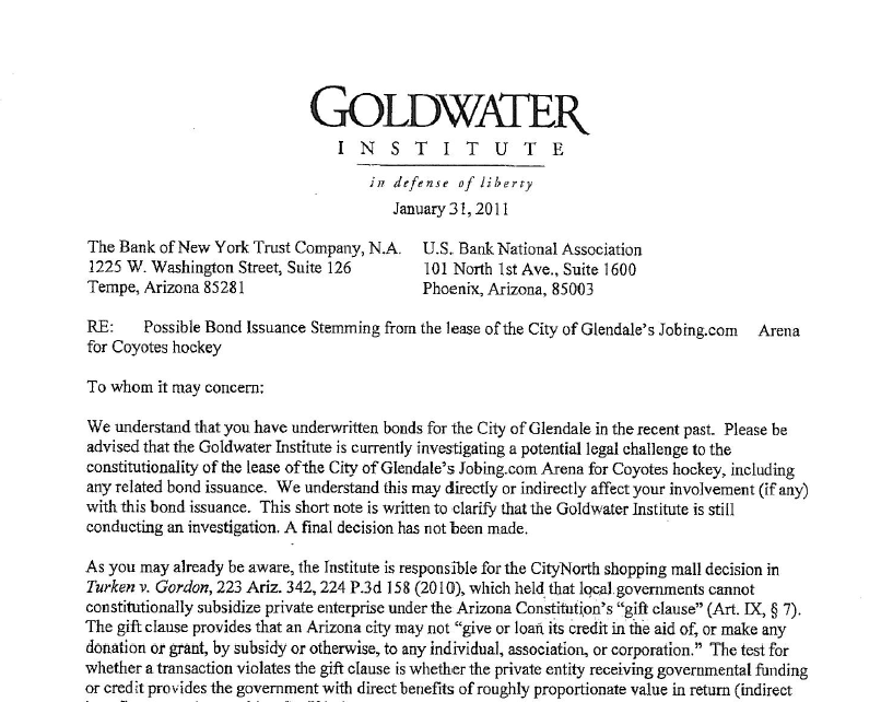 fside Sports Law Goldwater Letter To Potential Investors