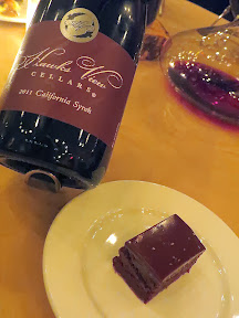 A Grand Feast of Oregon, by Hawks View Cellars and Irving St Kitchen: Pairing 6 of Chocolate Torte with 2011 Hawks View California Syrah