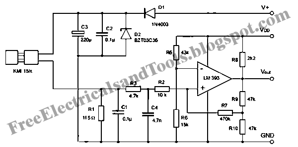 free schematic diagram  signal conditioning circuit for