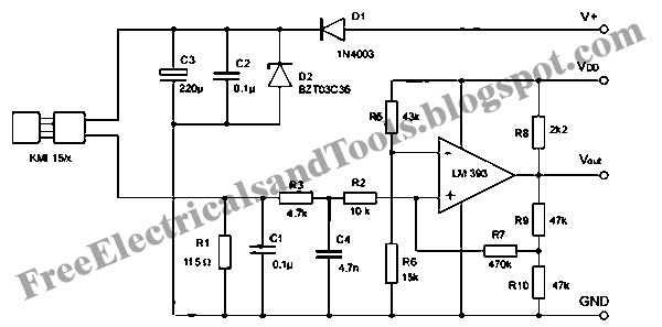 wiring diagram for car  signal conditioning circuit for