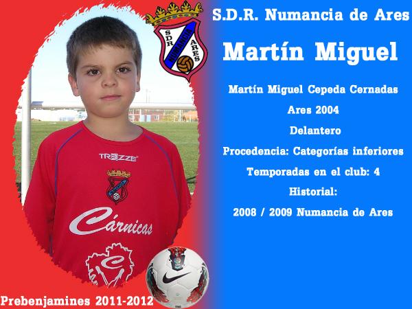 ADR Numancia de Ares. Prebenxamíns 2011-2012. MARTIN MIGUEL.