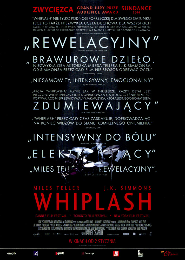 Ulotka filmu 'Whiplash (przód)'