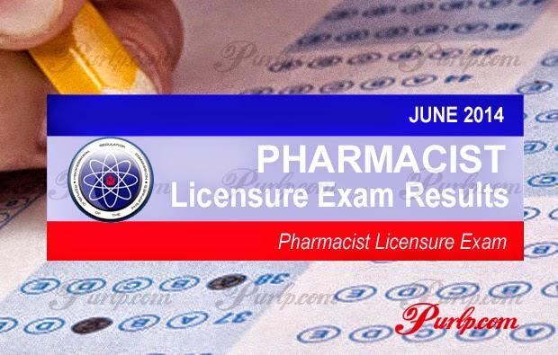 june 2014 pharmacist board exam results