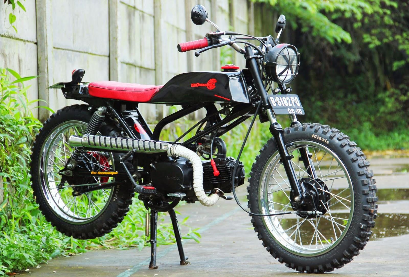 Kumpulan 72 Modifikasi Motor Honda Karisma Jadi Trail Terbaru