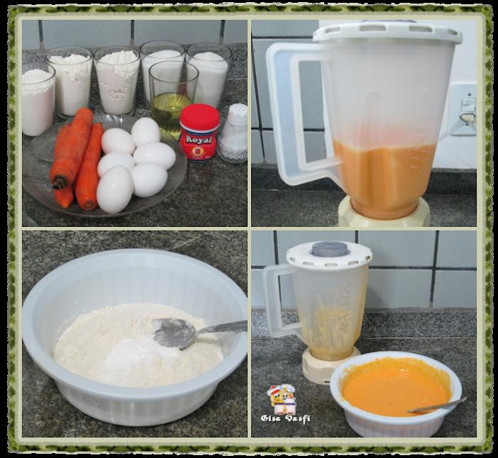 Bolo mesclado de cenoura 2