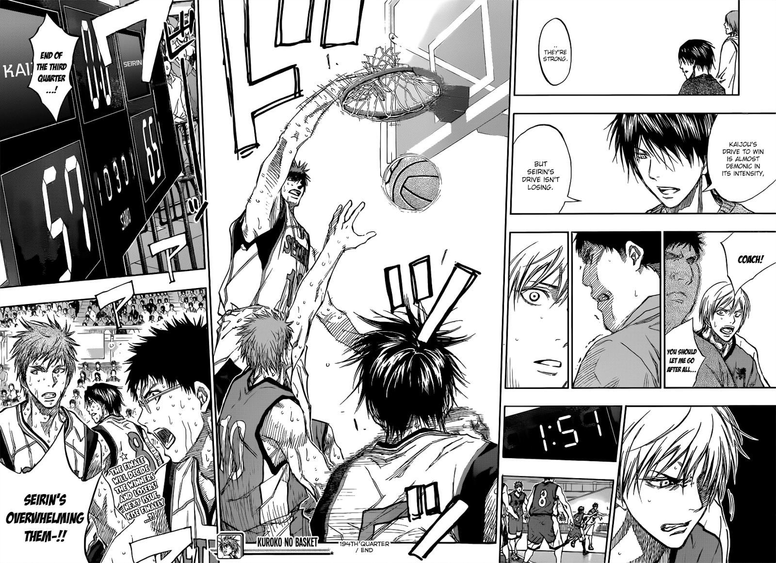 Kuroko no Basket Manga Chapter 194 - Image 18-19
