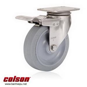 Bánh xe cao su càng bánh xe inox có khóa | 2-4456-444-BRK4