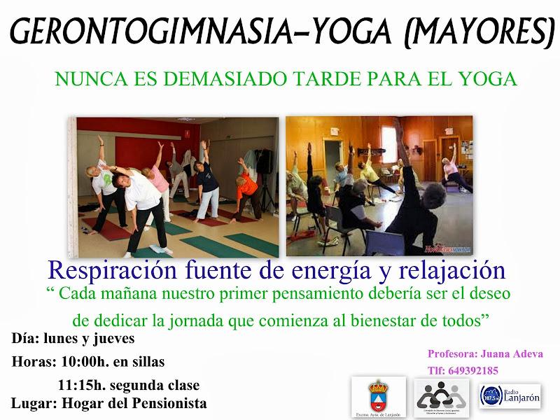 Gerontogimnasia-Yoga (mayores)