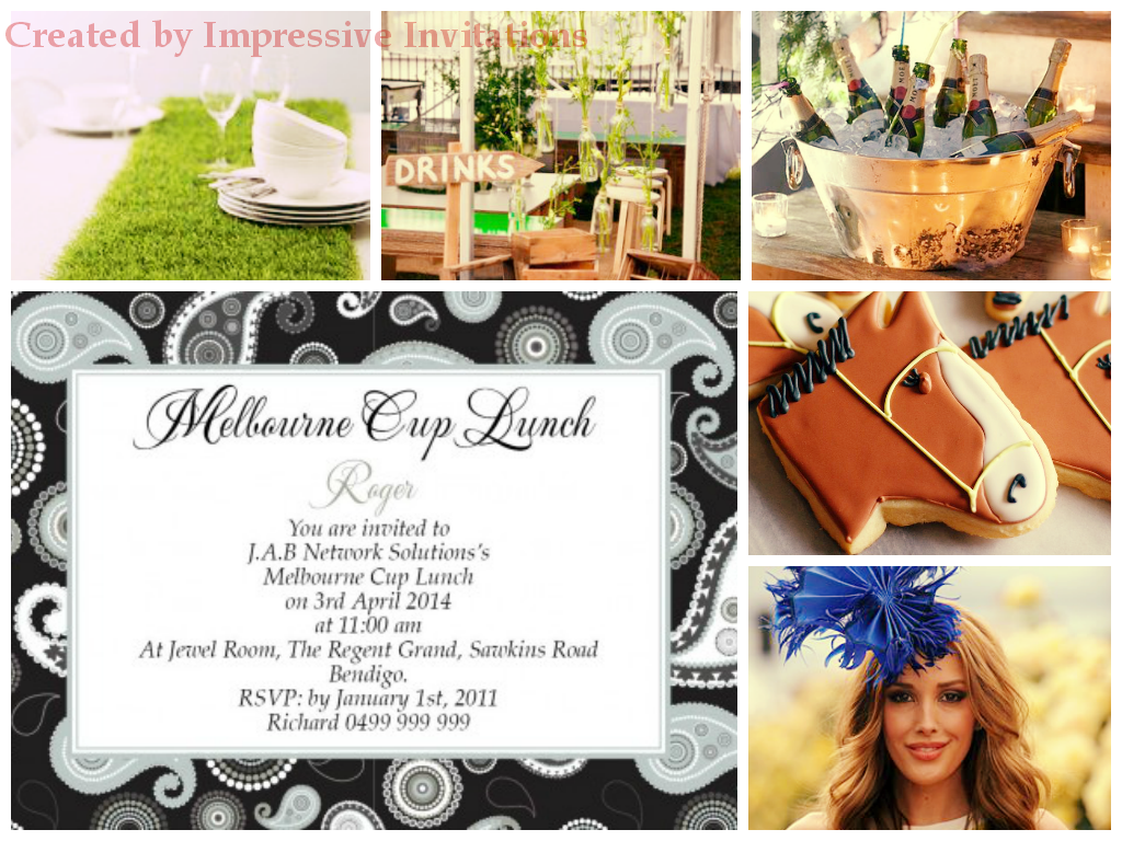 Impressive Invitations Melbourne Cup Corproate Event Invitations and Planning