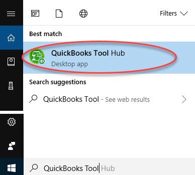QuickBooks Tool Hub-Desktop app