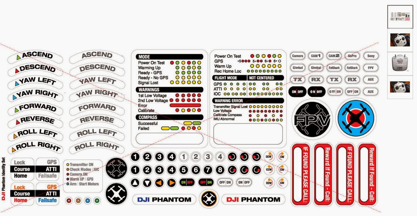Controller Stickers eBay $15 90 shipped   DJI Phantom Drone