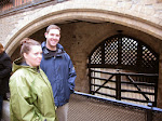 Susan and Jeff nervous at the Traitor's Gate
