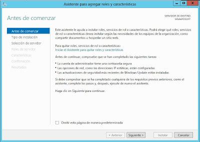 Instalar rol Servicios de Escritorio Remoto y RemoteApp en W2012