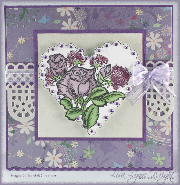 Lacy Lavender Heart