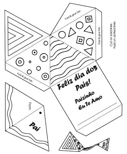 Armario Aberto Closet ~ 10 Modelos de cartões para o dia dos pais Revista Artesanato