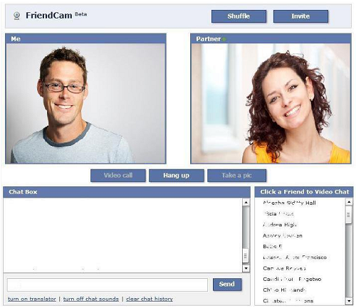 Realizar videollamadas en Facebook con FriendCam Video Chat