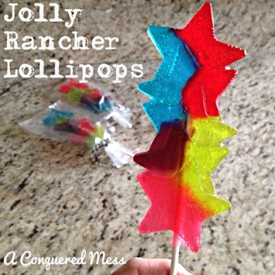 DIY Jolly Rancher Lollipops