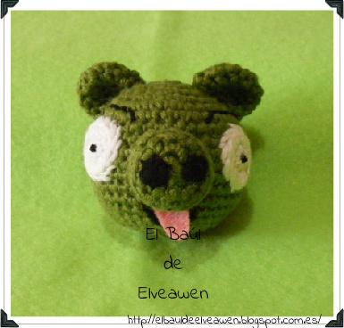Cerdo Angry Birds Amigurumi : El Ba?l de Elveawen: Cerdito Angry Birds