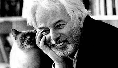 Alejandro Jodorowsky and a cat