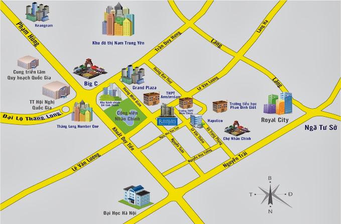 Chung cư Golden West Lê Văn Thiêm vị trí dự án