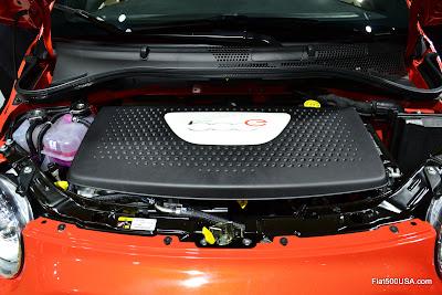 Fiat 500e motor cover