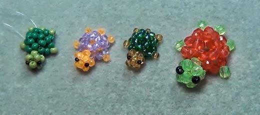 tartarugas de miçangas passo a passo