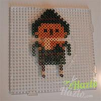 El Espantapájaros de El Mago de Oz de hama beads