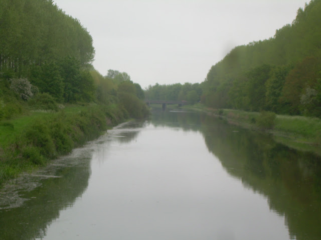 Looking east along the cut-off channel towards the A10 bridge